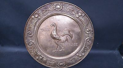 Vintage Solid Brass Take Courage Advertising Wall Plaque (2)