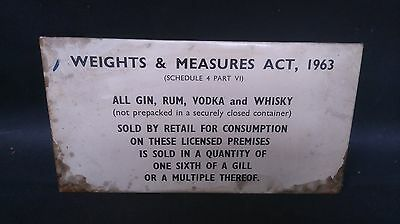 Vintage Tin, Weights & Measures Act 1963 Sign (1)