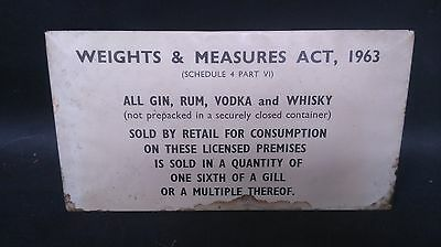 Vintage Tin, Weights & Measures Act 1963 Sign (2)