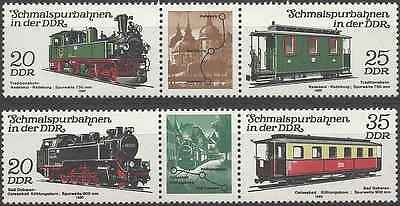 Timbres Trains RDA Allemagne 2222A/2223A ** lot 2507