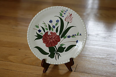 Vintage BLUE RIDGE SOUTHERN POTTERIES HAND-PAINTED PLATE 11D MADE IN U.S.A. 9""