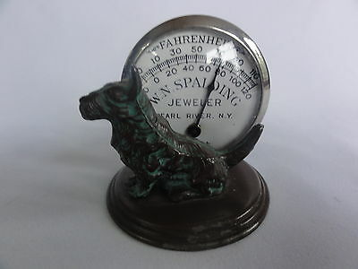 Antique WN Spalding Jeweler Pearl River NY Thermometer Advertising Store Display