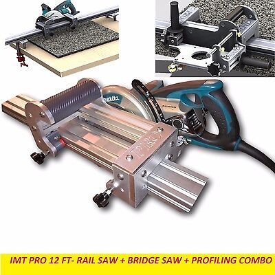 IMT PRO Wet Makita Motor Rail + Bridge Saw + EDGE Profile for Granite-12 Ft Rail