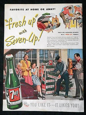 1947 Soda Advertising for 7up and Dixie Belle Gin