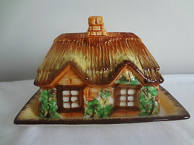 Vintage Occupied JAPAN  Cottage Style   Butter  or Cheese   Keeper  Pottery