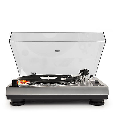 Crosley C100A-SI C100 Built-in Phono Preamp Turntable Record Player - SILVER NEW
