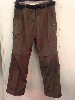 Size 12 Craghoppers Brown Water Resistant Outdoor Trousers