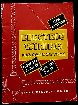 Electric Wiring Booklet (1953) from Sears Roebuck & Co
