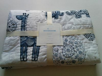 NEW Pottery Barn Kids Lawson Crib Toddler Nursery Quilt Elephant Giraffe
