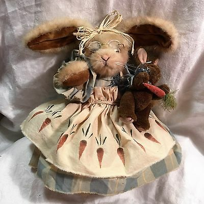 Vintage Teddy Bear Bunny Maker Unknown with toy - Gorgoues