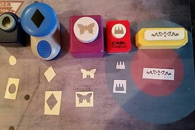 5 paper punches (assorted)