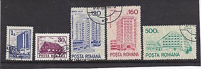 Romania - 1991 hotels, part set