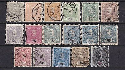 Portugal 1895 - King Carlos, part set, all used