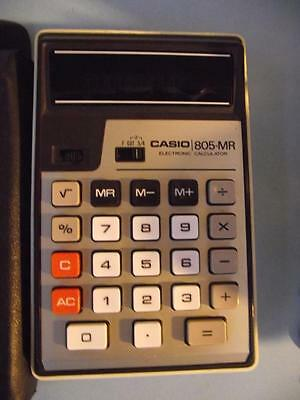 Vintage CASIO 805-MR Electronic Scientific Calculator+Case+Instructions