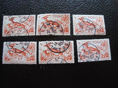 TOGO - timbre yvert et tellier n° 250 x6 obl (A33) stamp