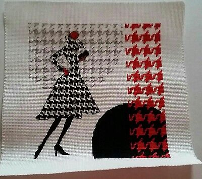 Cross stitch - 'Fashion Lady' completed.
