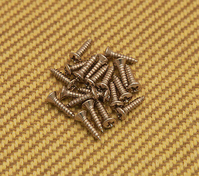 GS-0001-001 (20) Nickel Pickguard Screws for Fender Bass/Guitar #4