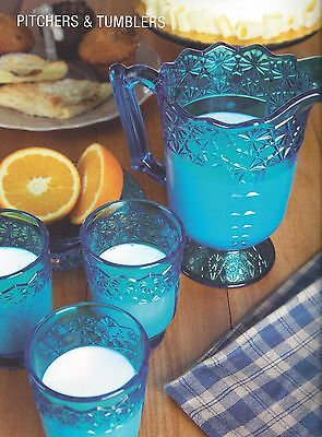Mosser Glass QUEEN SET Colonial Blue Pitcher & 4 Tumblers Set NEW COLOR CHOICE
