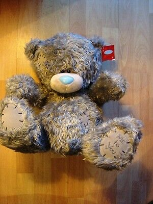 """Large 16"""" 40cm Me To You Blue Nose Teddy Bear With Tag"""