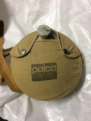 Vintage Army Style Aluminum Canteen by Palco