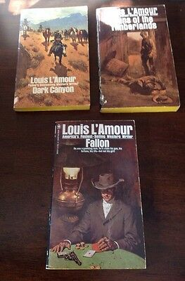 Lot of 3 Louis L'Amour Western Books