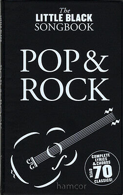 Pop & Rock The Little Black Songbook Guitar Chords & Lyrics Music Song Book