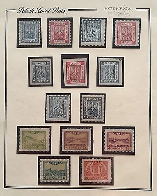 Poland Polish Local Posts 1916 Mlh*/** Used For Description Look At The Picture