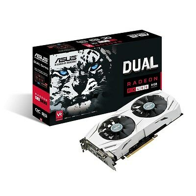Asus AMD Radeon DUAL RX 480 8GB GDDR5 OC VR Ready PC Gaming Graphics Card