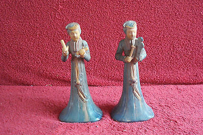Antique Vintage Oriental Pair Chinese, Japanes Statues, Dolls
