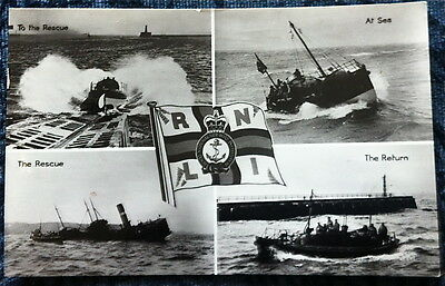 RNLI Multi View Real Photo Postcard - The Rescue