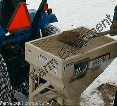 Herd 5.5 Tractor 3-Pt PTO Spreader: Wet Sand,Salt,Ag Lime: Holds Up To 550lbs!