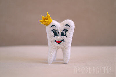 """Toy """"a tooth"""" Gift dentist handmade."""