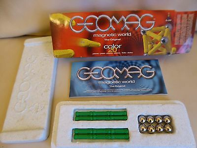 Geomag Magnetic World The Original Color 20 pieces - 12 green rods 8 spheres