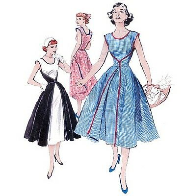 Butterick 4790 Sewing Pattern FAST & EASY '52 Retro Style Wrap Dress Misses 8-22