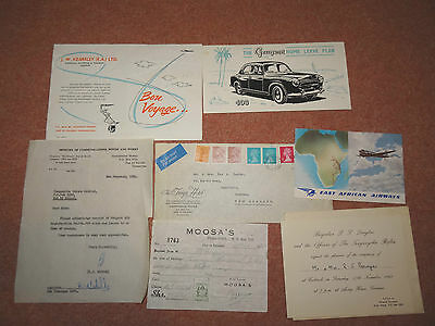 1962 Tanganyika Rifles Invitation For Cocktails, At Army House, Gerezani + Other