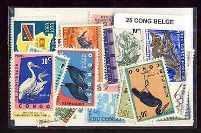Congo Belge - Belgian Congo 25 timbres différents