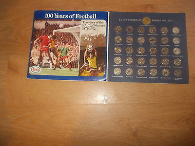 100 Years Of Football Esso Fa Cup Coin Collection 1972 - Complete
