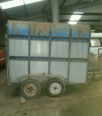 Vintage cattle 2 cow trailer classic landrover s1 s11 s11a s3 s 30cwt