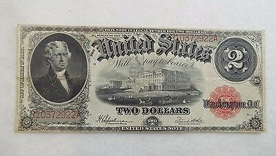 Series of 1917 Large Size $2 Legal Tender United States Note VF Fr#60