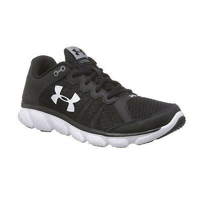 Under Armour Men's Micro G Assert 6 Shoes Black/White 8.5