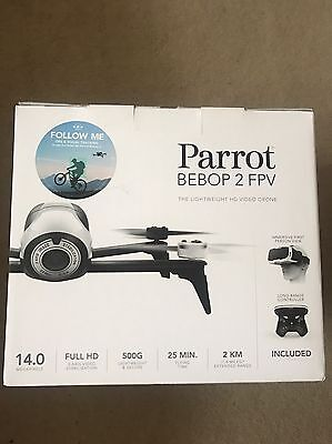 PARROT Bebop 2 FPV Drone with SkyController 2 - White & Black - Brand New Sealed