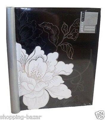 Photo Album Midnight Flower Design 10 Sheet Self Adhesive 10 Sheets 20 View
