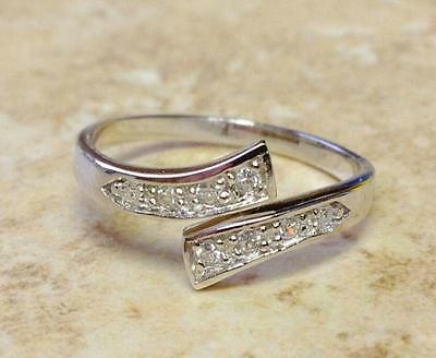925 Sterling Silver Adjustable Toe Ring with tiny, delicate Rhinestones