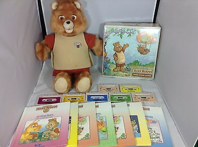 Teddy Ruxpin Original 1984/85 With 7 Books and Cassettes - Working Condition