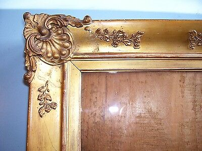 Antique Georgian Gilt Gold Leaf Ornate Shabby Chic Picture Frame Old Glass C1820
