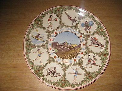 Los Angeles 1984 Olympic Commemorative plate by Wedgwood