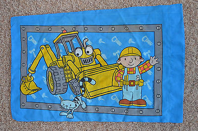 Standard Twin Fabric Bedding Pillow Case Scoop Bob Builder Pilchard Pillowcase