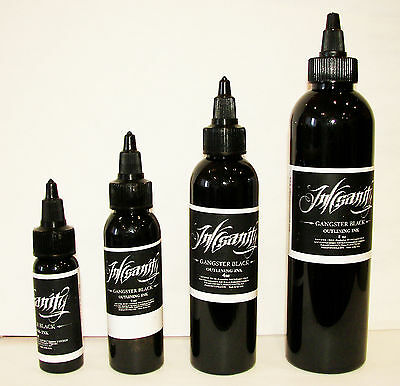 Inksanity Gangster Black Outlining Tattoo Ink Made In USA Not Eternal Supply