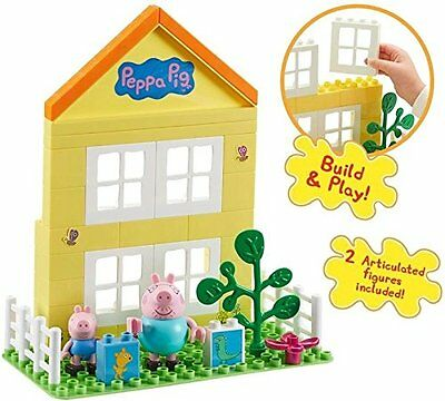 Peppa Pig: Peppa's House Construction Buildable Playset With 2 Figures ... Bnib