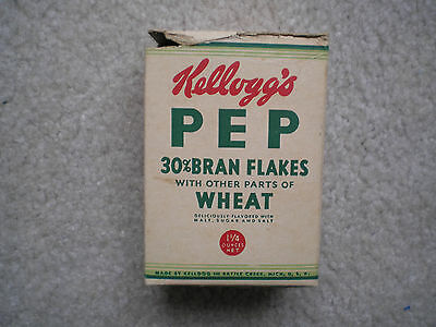 Kellogg's Pep Sample Cereal Box 1935 Highlight on Sports
